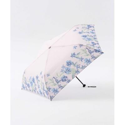 【アフタヌーンティー・リビング】 ヘムフラワー晴雨兼用軽量折りたたみ傘 雨傘 レディース ピンク ― Afternoon Tea LIVING