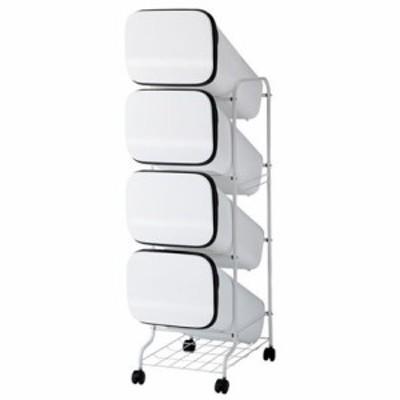 H&H リススムーススタンドダストボックス4Pホワイト ホワイト  80L 252810