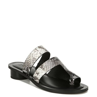フランコサルト レディース サンダル シューズ Sarto by Franco Sarto Trixie Snake Print Leather Toe Ring Slide Sandals