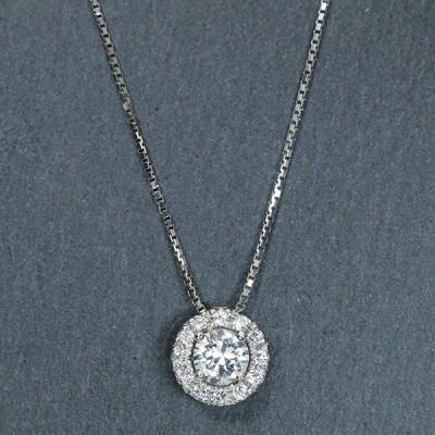ダイヤモンド(空枠) 0.2、0.3、0.5 (±0.05ct可)ct用 ペンダントトップ枠 K18 PG WG PT900 ダイヤが大きく見える /白・透明(ホワイト)/リフォーム/1年保証/