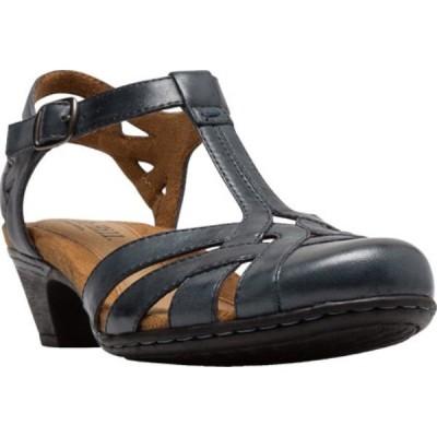 ロックポート Rockport レディース サンダル・ミュール シューズ・靴 Cobb Hill Aubrey T Strap Sandal Navy Leather