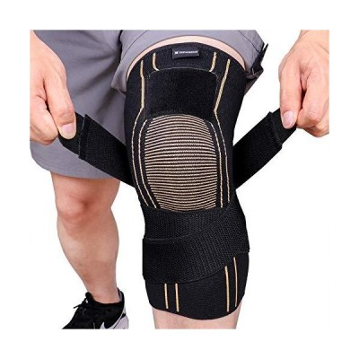 Thx4 Copper Sports Compression Knee Brace with Adjustable Strap, Arthritis Relief, Joint Pain, MCL, Added Support (X-Large)【並行輸入