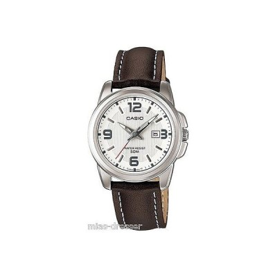 カシオ 腕時計  Casio LTP1314L-7A レディース ブラウン レザー カジュアル ドレス 腕時計 Ion ケース ベゼル