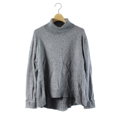 【中古】シンプリシテェ Simplicite 18SS ニット セーター タートルネック 長袖 グレー /DK12 レディース 【ベクトル 古着】