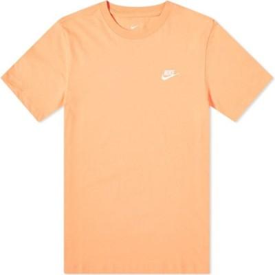 ナイキ Nike メンズ Tシャツ トップス Club Tee Orange Trance