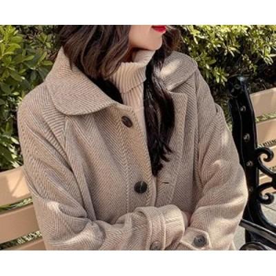 ロングチェスターコート 秋冬 アウター 見た目の高級感 厚手コート