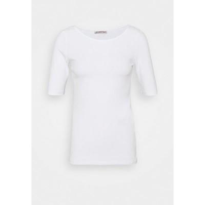 アンナフィールド Tシャツ レディース トップス Basic T-shirt - white