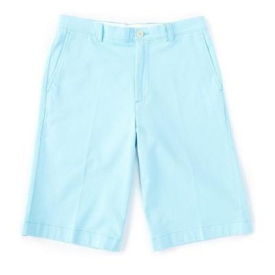 ランドツリーアンドヨーク メンズ ハーフ&ショーツ ボトムス 13#double; Inseam Flat Front Washed Chino Shorts Aqua