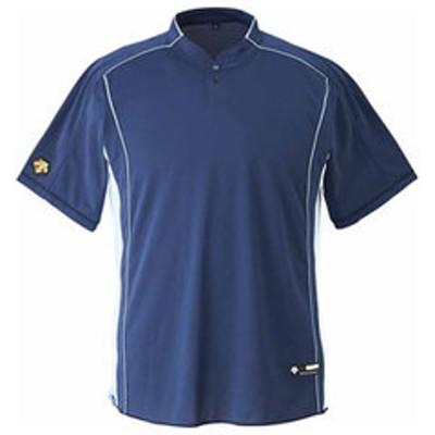 デサント ベースボールシャツ(NVY・サイズ:M) DESCENTE 立衿2ボタンベースボールシャツ(レギュラーシルエット) DS-DB109B-NVY-M 【返品種別A】