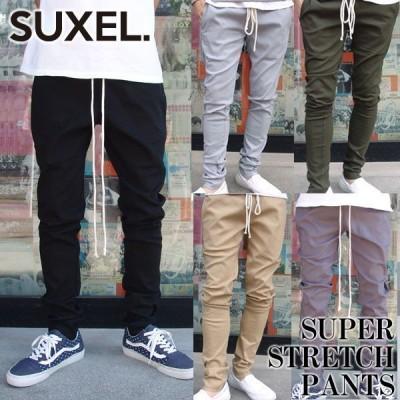 サクエル SUXEL パンツ スーパーストレッチパンツ ロング ボトム メンズファッション