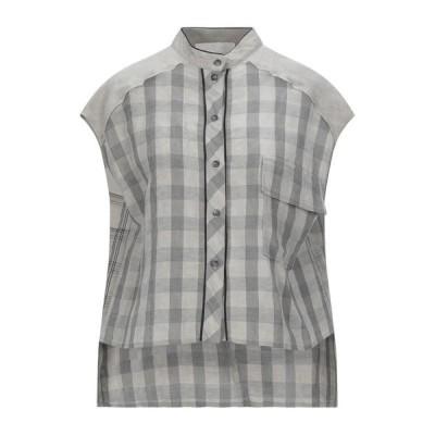 8PM チェック柄シャツ  レディースファッション  トップス  シャツ、ブラウス  長袖 グレー