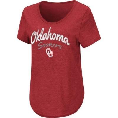 コロシアム レディース Tシャツ トップス Colosseum Women's Oklahoma Sooners Crimson Rule Breaker T-Shirt