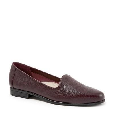 トロッターズ レディース サンダル シューズ Liz Tumbled Leather Flats Burgundy