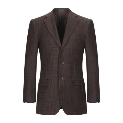 パル ジレリ PAL ZILERI テーラードジャケット ダークブラウン 48 バージンウール 100% テーラードジャケット
