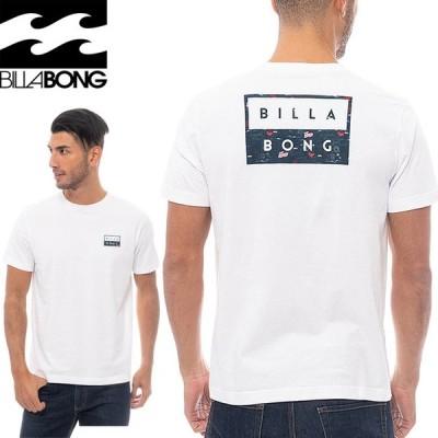 ビラボン メンズ DECAL CUT Tシャツ 半袖 バックプリント クルーネック 綿100% BA011242 ホワイト