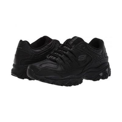 SKECHERS スケッチャーズ メンズ 男性用 シューズ 靴 スニーカー 運動靴 Afterburn M. Fit Reprint - Black