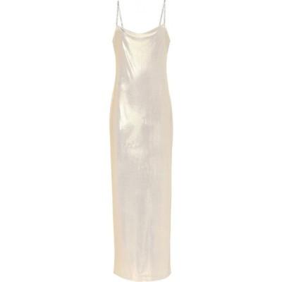 バルマン Balmain レディース ワンピース スリップドレス ワンピース・ドレス Lame slip dress Or Clair