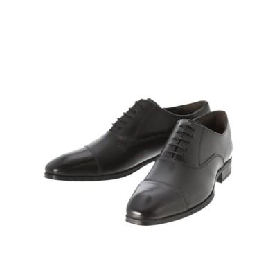 (TAKA-Q/タカキュー)アラウンドザシューズ/around the shoes 内羽根ストレートチップ ドレスシューズ/メンズ ブラック