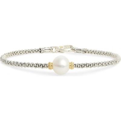 ラゴース LAGOS レディース ブレスレット ジュエリー・アクセサリー Luna Pearl Single Station Bracelet Silver