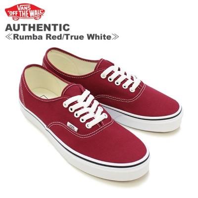 バンズ VANS オーセンティック AUTHENTIC メンズ キャンバス スニーカー  Rumba Red/True White [BB]