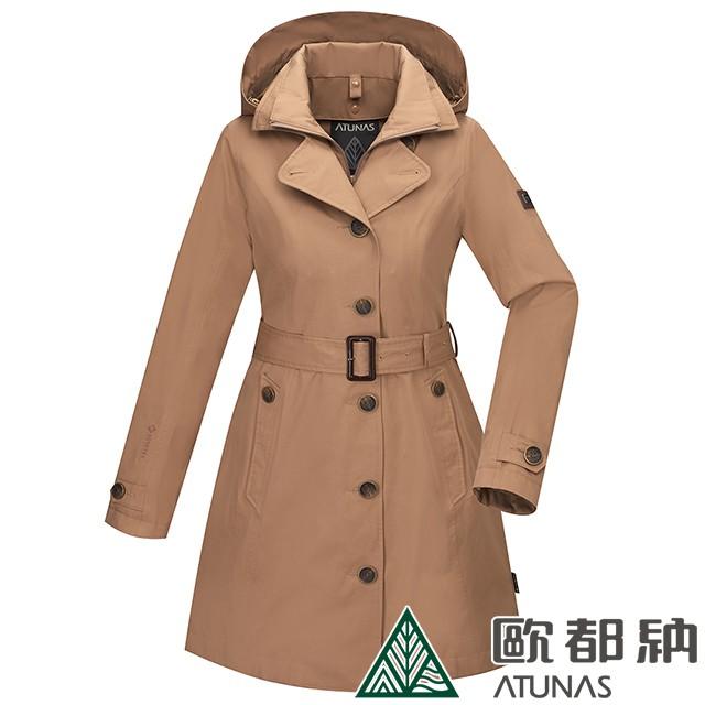 (登山屋)女款GORE-TEX防水防風兩件式羽絨外套(A1GT2008W 核果棕)