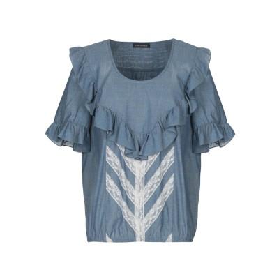 ツインセット シモーナ バルビエリ TWINSET デニムシャツ ブルー 38 コットン 100% デニムシャツ