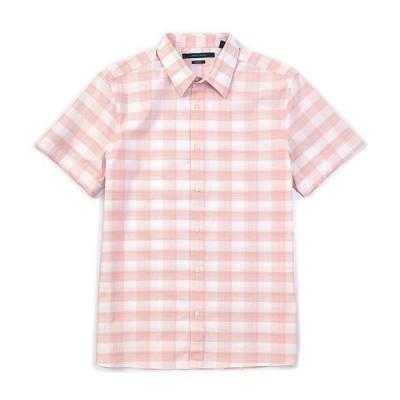 ペリーエリス メンズ シャツ トップス Plaid Stretch Short-Sleeve Woven Shirt