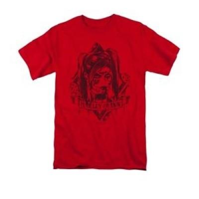 【お取り寄せ】ハーレーダビットソン メンズ Batman Arkham Knight Harley Quinn Diamond DC Comics Licensed Adult T Shirt