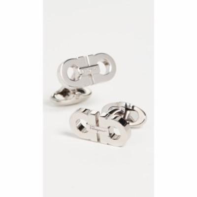 サルヴァトーレ フェラガモ Salvatore Ferragamo メンズ カフス・カフリンクス Double Gancio Cufflinks Silver