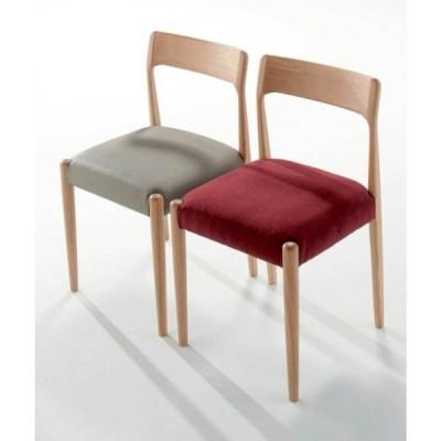 木製椅子 ダイニングチェア  飲食店椅子 天然木オーク丸脚別張り品 木製業務用店舗家具anhelo-n
