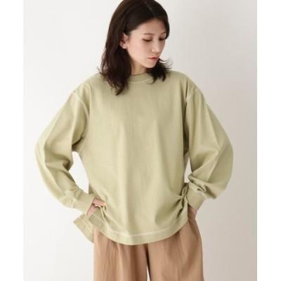 【五明祐子さん着用商品/M-3L】USAコットン配色ステッチロンT