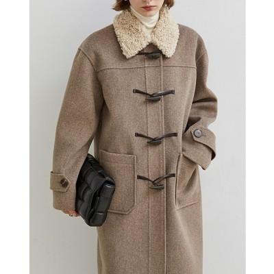 chuclla / 【Fano Studios】【2021AW】Boa collar duffle coat FD20W007 MEN ジャケット/アウター > ダッフルコート