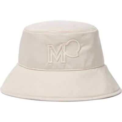 モンクレール Moncler レディース ハット バケットハット 帽子 logo gabardine bucket hat Beige