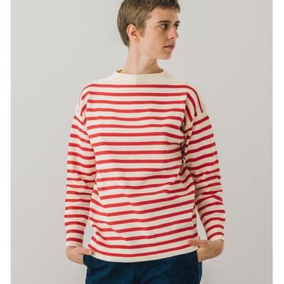 【ビショップ/Bshop】 【Le Tricoteur】コットンガンジーセーター STRIPE WOMEN