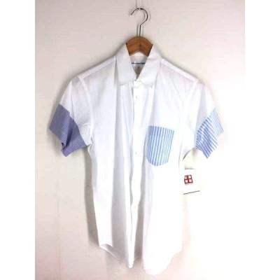 コムデギャルソンシャツ COMME des GARCONS SHIRT 半袖切替シャツ メンズ S 中古 201125