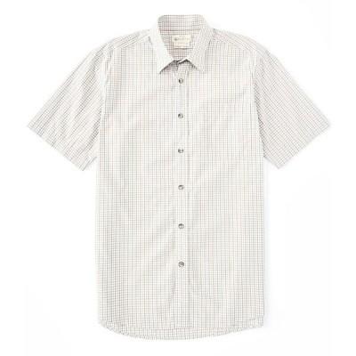 ベレッタ メンズ シャツ トップス Trail Short-Sleeve Woven Shirt Beige Blue Check