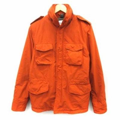 【中古】アスペジ ASPESI S NEW CAMP JACKET M-65 フィールドジャケット アウター ジップアップ オレンジ メンズ