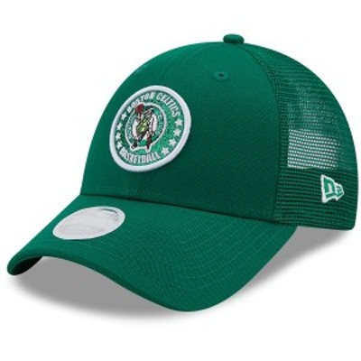 ニューエラ レディース 帽子 アクセサリー Boston Celtics New Era Women's Sparkle Trucker 9FORTY Snapback Hat Green