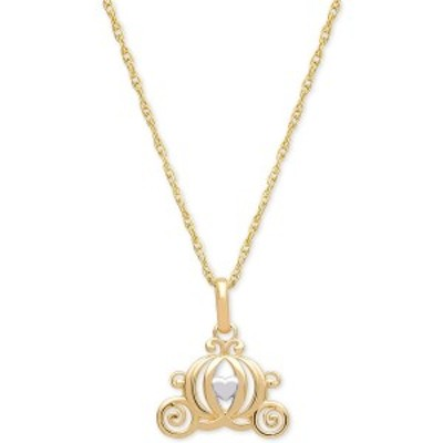 """ディズニー レディース ネックレス・チョーカー・ペンダントトップ アクセサリー Children's Carriage 15"""" Pendant Necklace in 14k Gold"""
