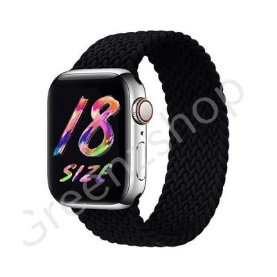 FnKer Sport Watch Bands Braided Solo Loop Compatible for Apple Watch Band 38/40/42/44mm Women Men, Nylon Woven Adjustable Soft Stretchy Elas