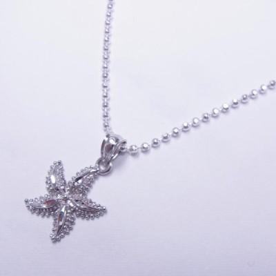 ハワイアンジュエリー jewelry ペンダントトップ ネックレス ペンダントヘッド レディース シルバー925 ヒトデ ひとで スターフィッシュ ロジウム加工