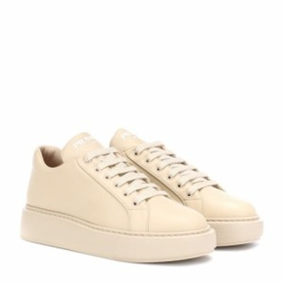 プラダ Prada レディース スニーカー シューズ・靴 Leather platform sneakers Quarzo