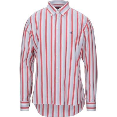 ヘンリーコットンズ HENRY COTTON'S メンズ シャツ トップス striped shirt Brick red