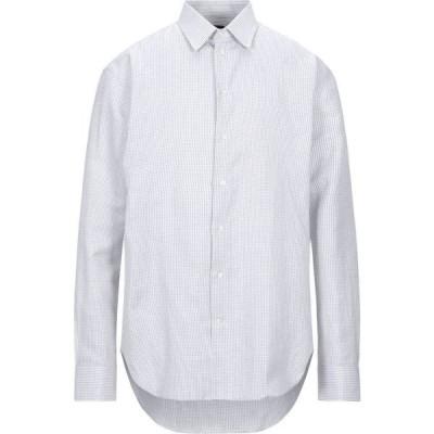 アルマーニ EMPORIO ARMANI メンズ シャツ トップス checked shirt White