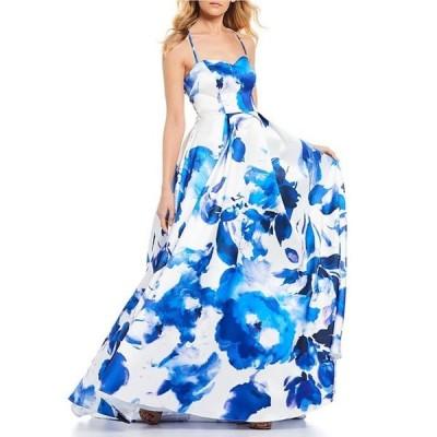 ビーダーリン レディース ワンピース トップス Floral Print Lace-Up Back Ball Gown