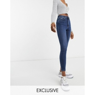 トミーヒルフィガー レディース デニムパンツ ボトムス Tommy Jeans high rise skinny jeans in mid wash blue Hampstead mb str