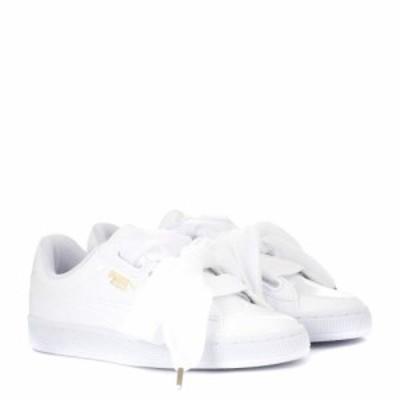プーマ Puma レディース スニーカー シューズ・靴 Basket Heart patent sneakers Puma White-Puma White