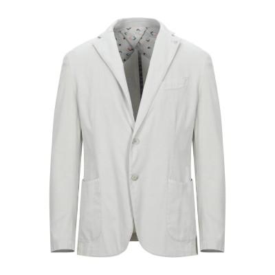 BARBATI テーラードジャケット ライトグレー 50 コットン 98% / ポリウレタン 2% テーラードジャケット