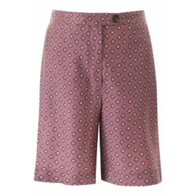 MAX MARA S/マックス マーラズ ショートパンツ ROSA 's max mara printed silk shorts レディース 春夏2020 FUOCO ik