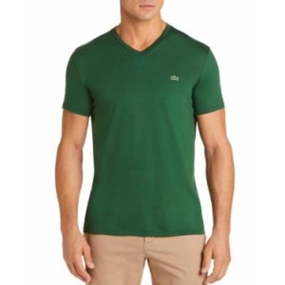 ラコステ メンズ Tシャツ トップス V-Neck Pima Cotton Tee Green